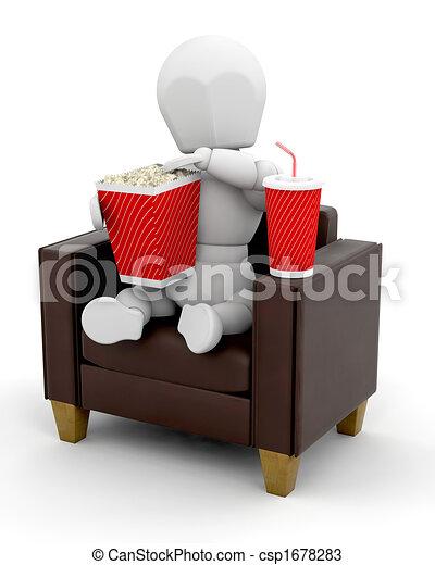 Watching movies at home - csp1678283