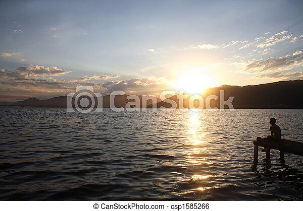 Watching the Sunset - csp1585266