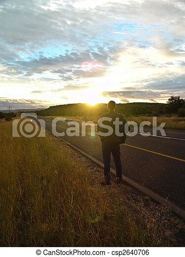 Watching the sunset - csp2640706