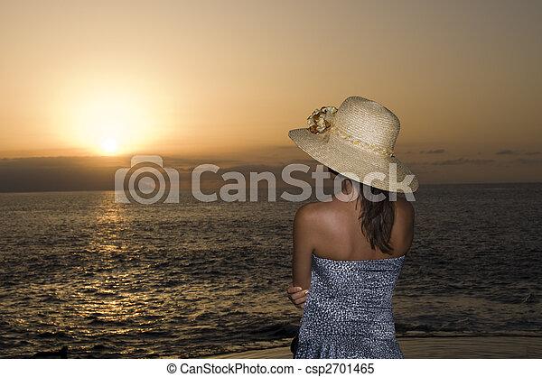 Watching the sunset - csp2701465