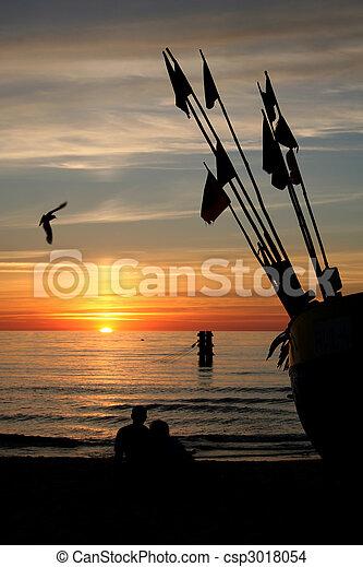 watching the sunset - csp3018054