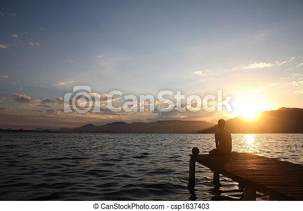 Watching the Sunset - csp1637403
