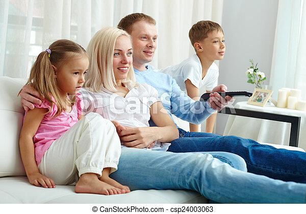 Watching TV - csp24003063