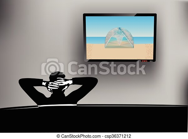 watching tv - csp36371212