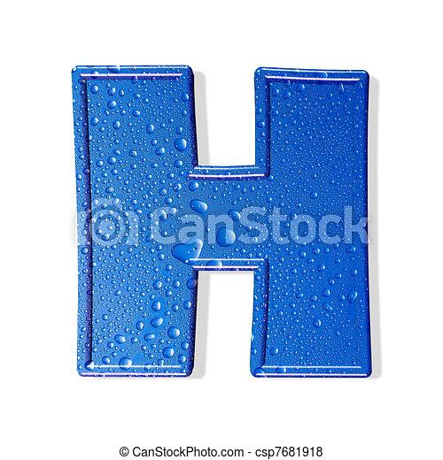 Water alphabet isolated . aqua letter  - csp7681918