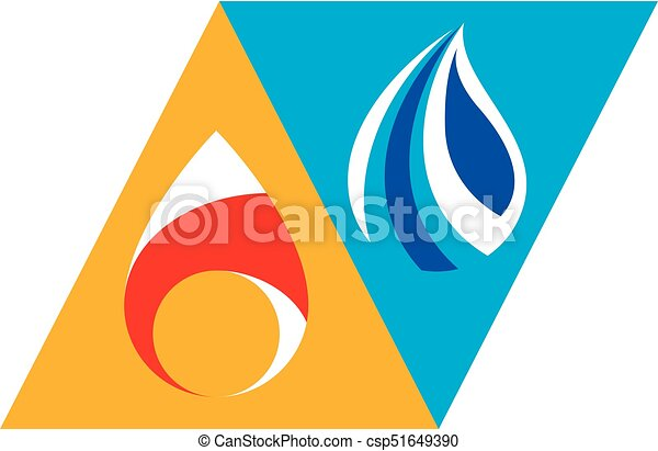 Water And Fire As Opposite Nature Elements Tao Symbol