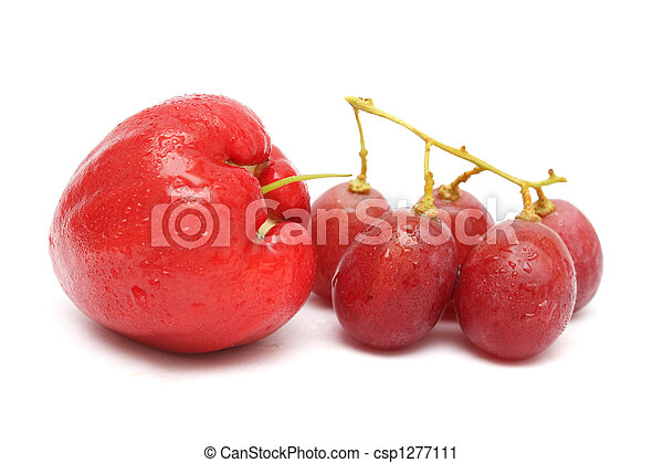 Water Apple And Red Grape - csp1277111