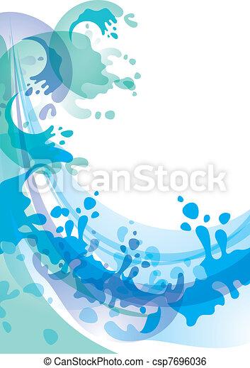 Water background  - csp7696036