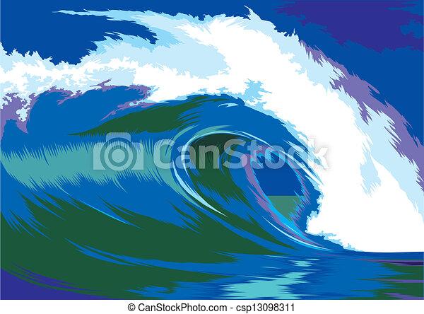 Crashing Waves Clip Art