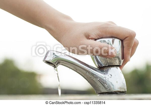 water, besparing - csp11335814