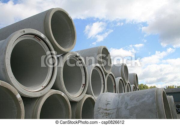 water, beton, pijpen - csp0826612