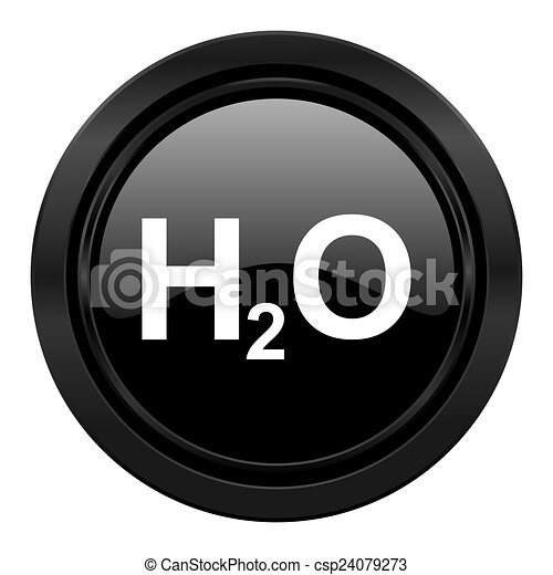 water black icon h2o sign - csp24079273