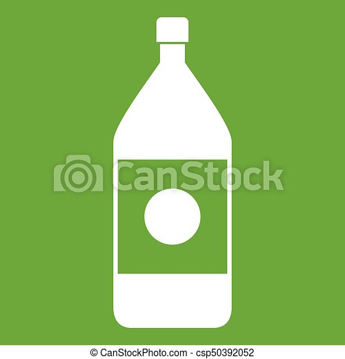 Water bottle icon green - csp50392052