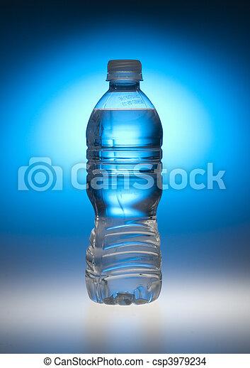 Water bottle in blue - csp3979234