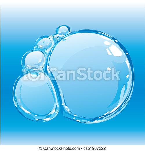 Water bubbles - csp1987222