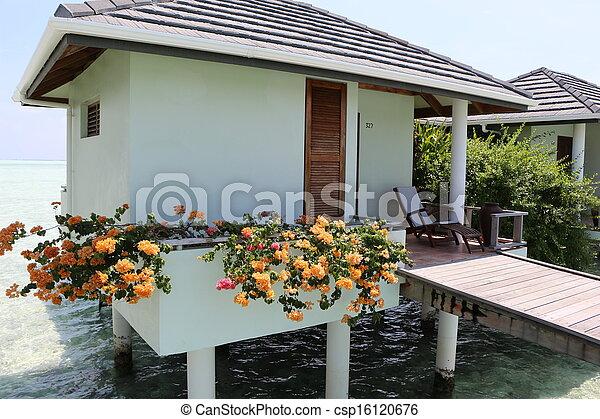 water bungalow. Maldives  - csp16120676