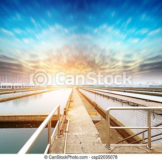 Water cleaning facility outdoors - csp22035078