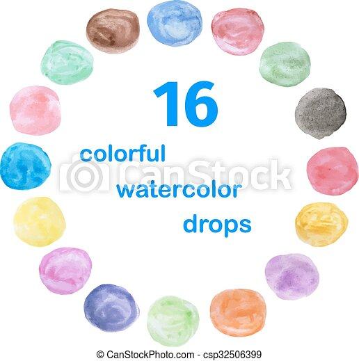 Water color circle - csp32506399