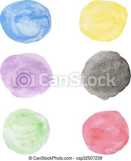Water color circle - csp32507239