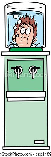 water cooler vector illustration - csp14895776