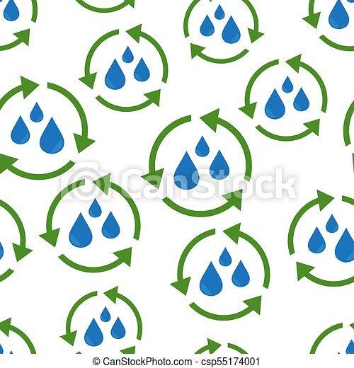 water cycle seamless pattern background business flat vector rh canstockphoto ca  water cycle diagram clipart