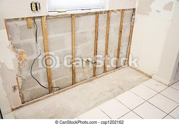 Water Damage in Kitchen - csp1202162