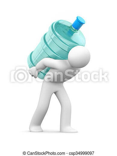 Water delivery - csp34999097