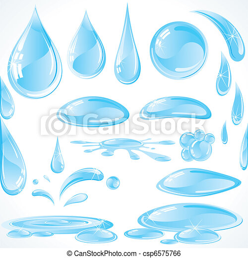 Water design drops - csp6575766