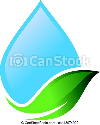 water drop and leaf abstract vector logo design aqua logo rh canstockphoto com water vectors affecting houston post harvey water vector background free