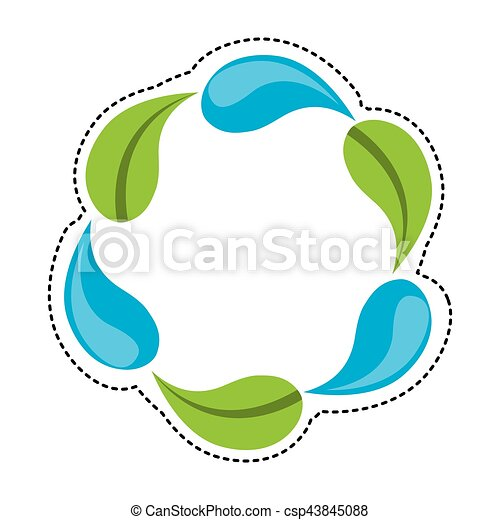 water drop and leaf plant - csp43845088