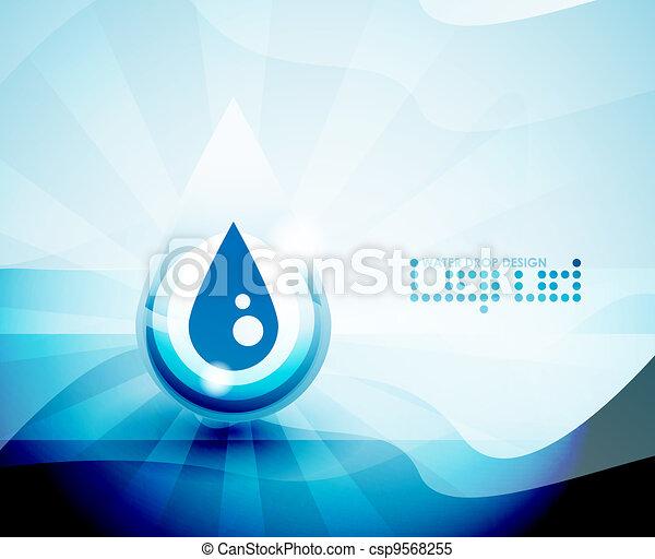 Water drop background - csp9568255