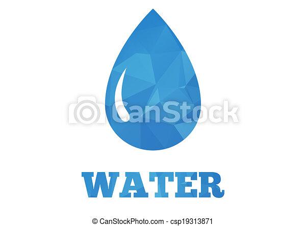 Water drop background - csp19313871