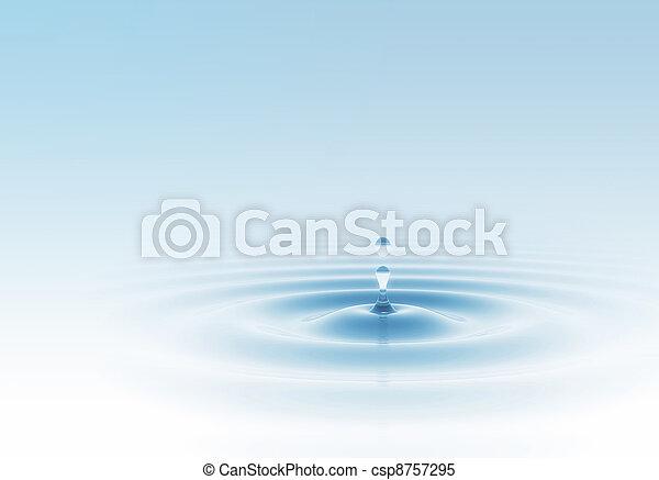 Water drop blue - csp8757295