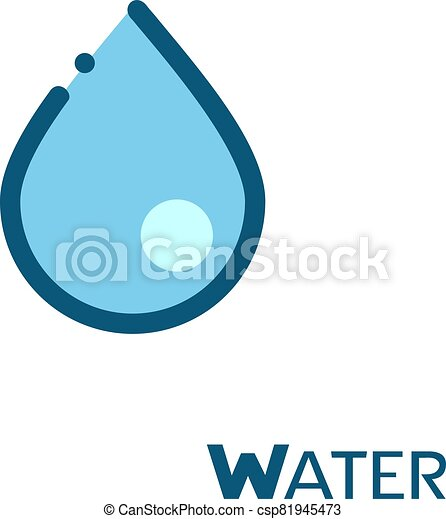 water drop icon - csp81945473