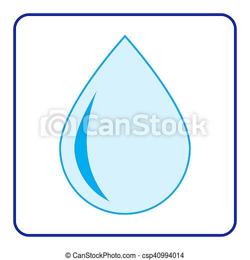 water drop icon - csp40994014