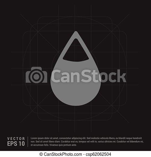 Water Drop Icon - csp62062504