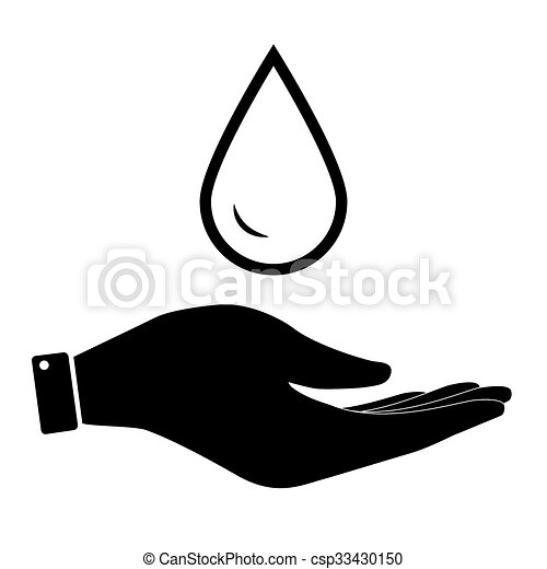 Water Drop In Hand Icon Water Or Nature Care Symbol