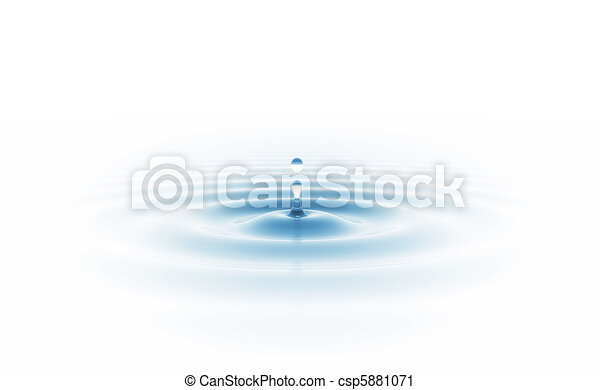 water drop isolated on white - csp5881071