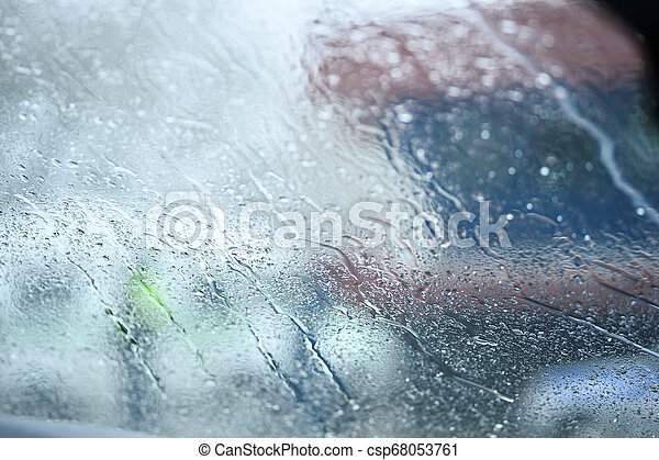 Water drop on the glass of windows background. - csp68053761