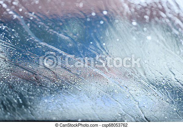 Water drop on the glass of windows background - csp68053762