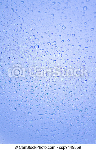 Water drop on the glass - csp9449559