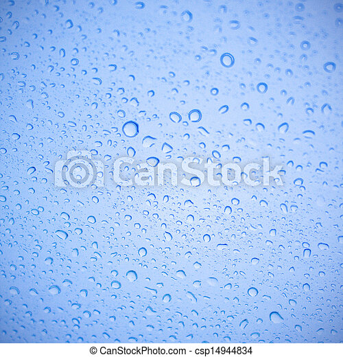 Water drop on the glass - csp14944834