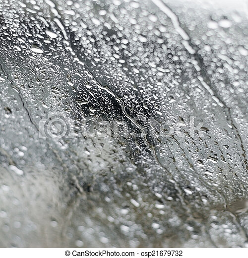 Water drop on the glass - csp21679732