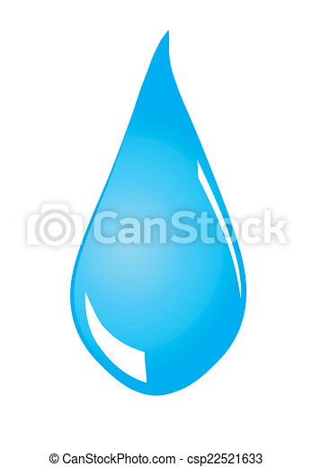 Water drop on white background - csp22521633