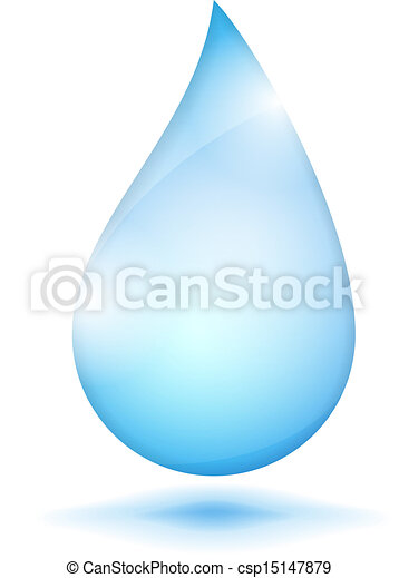 Water drop on white background - csp15147879