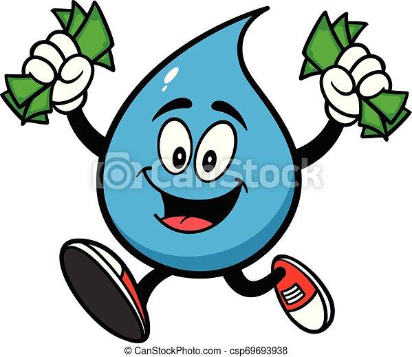 Cartoon Money Bag Running Carrying Kleinere Geldbeutel Stock Vektor Art und  mehr Bilder von Arbeiten - iStock