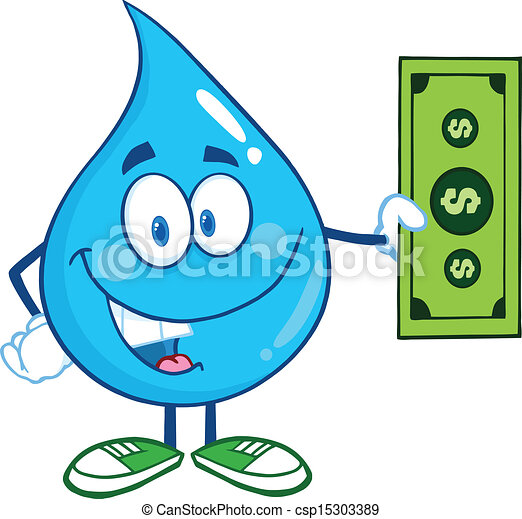 Water Drop  Showing A Dollar Bill - csp15303389