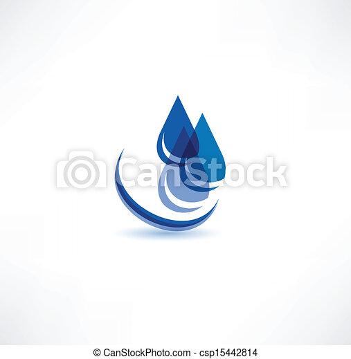 Water Drop Symbol - csp15442814