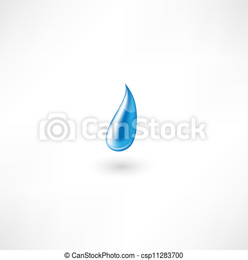 Water Drop Symbol - csp11283700