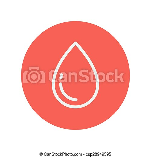 Water drop thin line icon - csp28949595